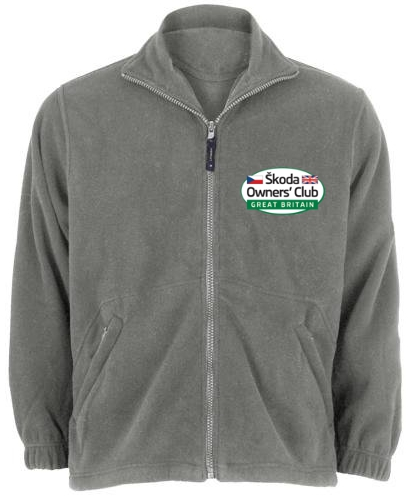 Fleece with embroidered logo